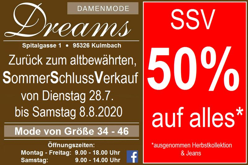 SSV bei Dreams Damenmode